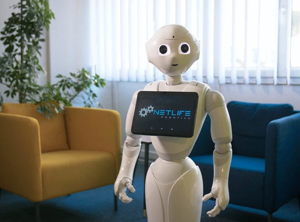 Robotics blog: Pepper robot in the office.