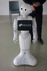 Pepper a humanoid robot.