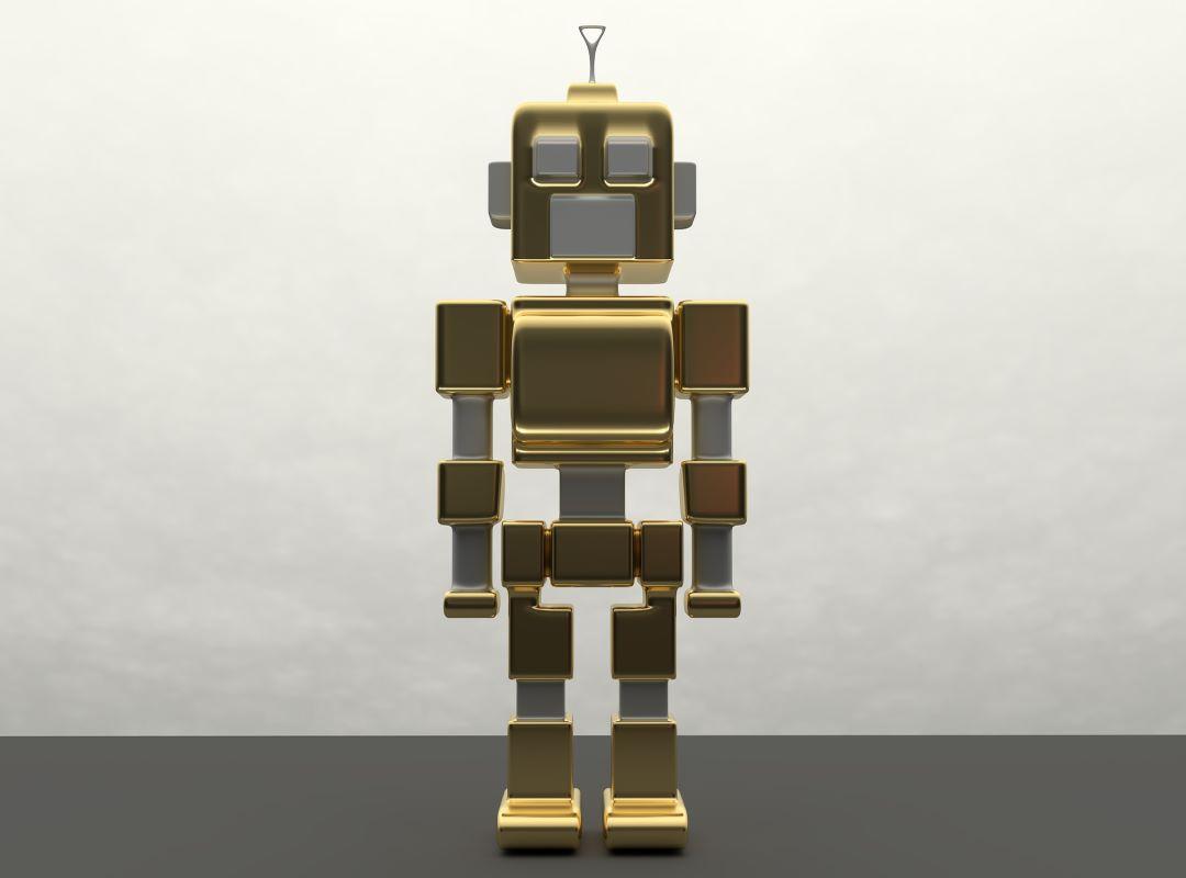 Grafika a robotok alkalmazása című cikkhez. A képen egy humanoid robot látható.
