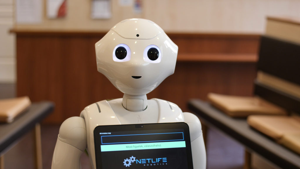 Pepper robot is already working in healthcare.