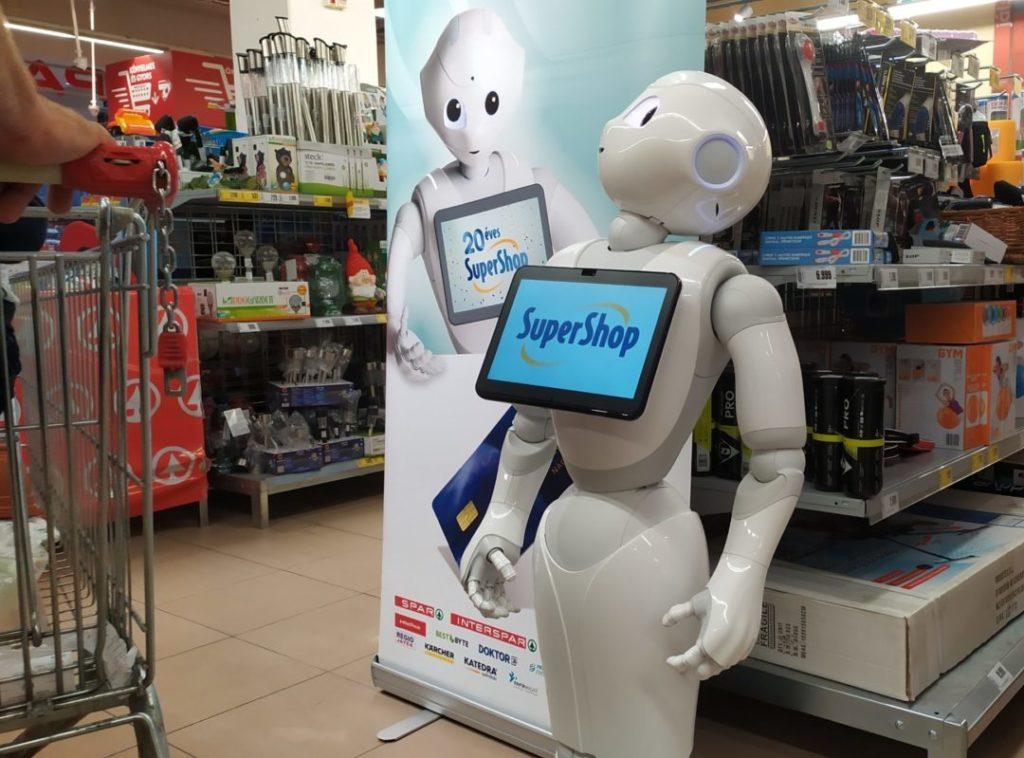 Super Pepper mint digitális marketing eszköz funkcionál egy budapesti Interspar áruházban