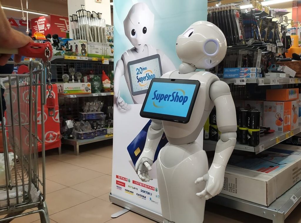 Humanoid robot project: Pepper working in a warehouse in Budapest.